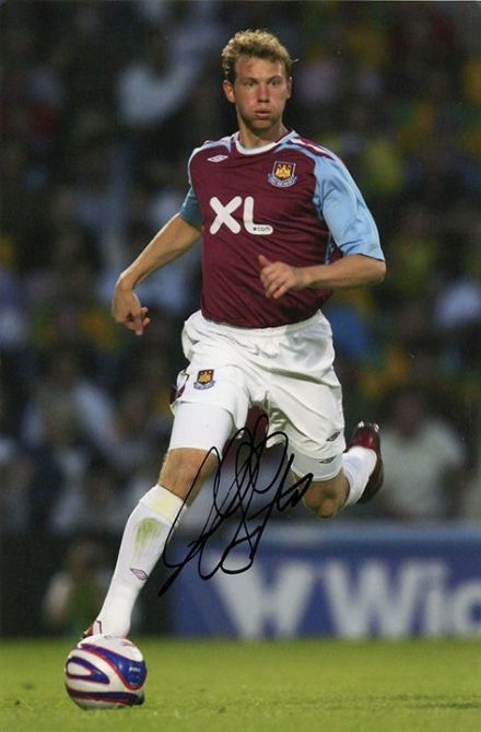 Jonathan Spector, West Ham Utd, USA, signed 9x6 inch photo.